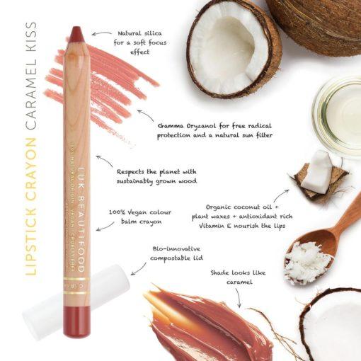 Luk Beautifood Organic Lip Crayon Caramel Kiss
