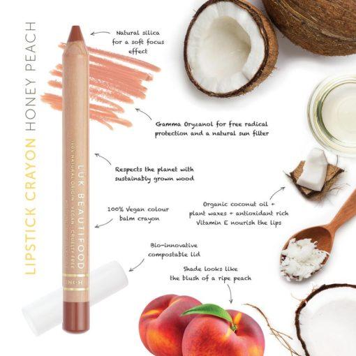 Luk Beautifood Organic Lip Crayon Honey Peach